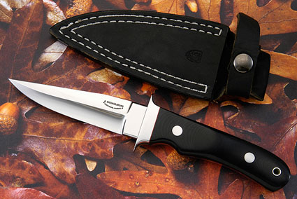 Boot Knife with Black Micarta