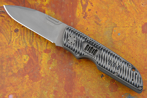 S.T.U.D. with Black & Gray Grooved G10 (PROTOTYPE #2 of 20)
