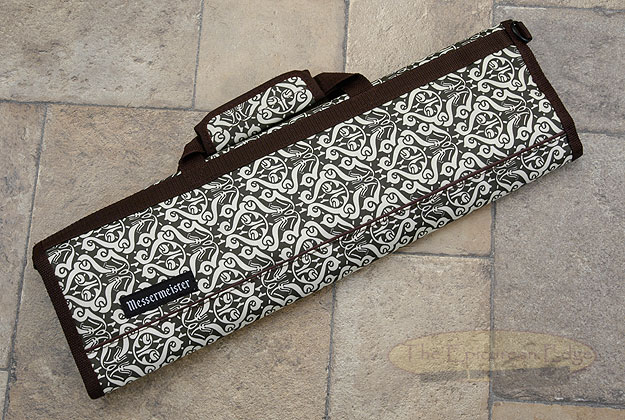 8 Pocket Knife Roll, Paisley & Green/Brown Dots (1055-8/PG)