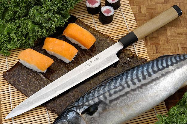 Suminagashi Left-Handed Yanagiba (Sashimi Knife) - 240mm (9 1/2 in.)