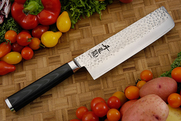 Tan-Gan-Ryu Chef's Knife - Nakiri - 6-3/4 in. (170mm)