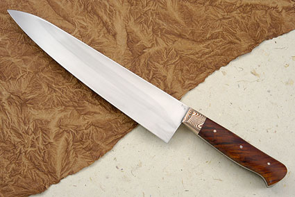 Chef's Knife with Twisted Cocobolo (9 1/2