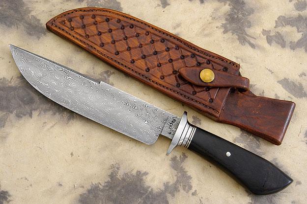 Damascus Chute Knife