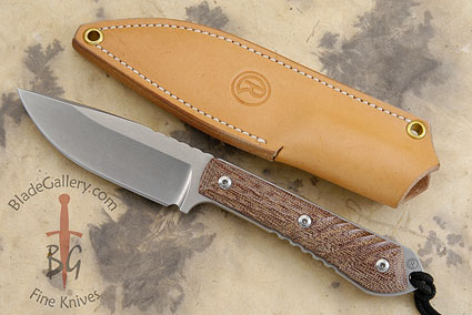 Nyala with Canvas Micarta. Drop Point Blade