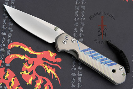 Large Sebenza 21 with Unique Graphic, Chevrons