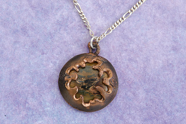 Copper and Mammoth Pendant