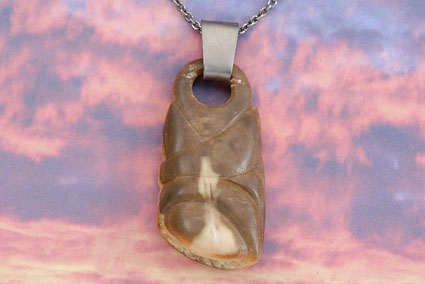 Carved Walrus Pendant
