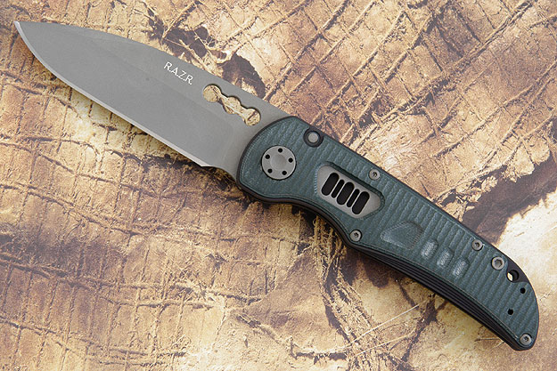 R.A.Z.R. with Forest Green Grooved G10