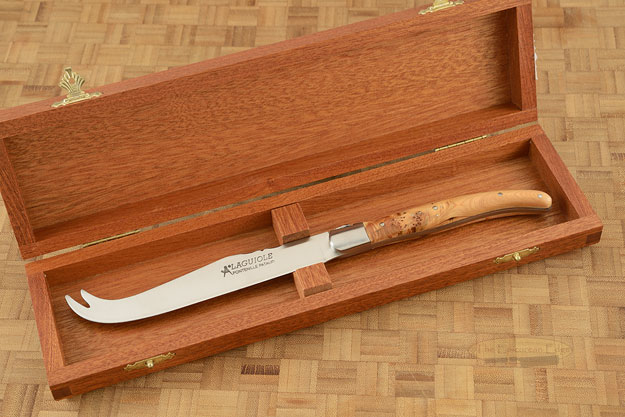 Laguiole Cheese Knife with Juniper Wood