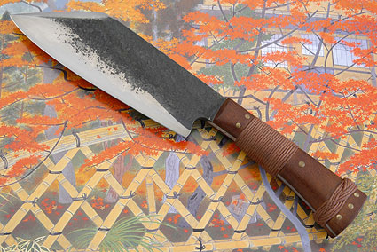 Compact Camp Knife with Ironwood