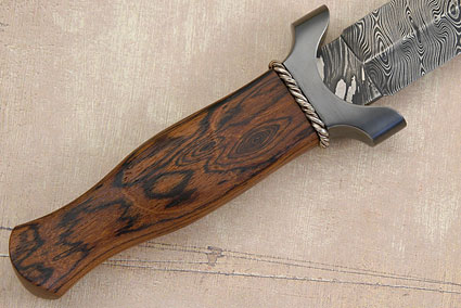 Damascus Dagger with Bocote