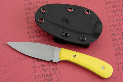 Small Practical EDC with Yellow G10