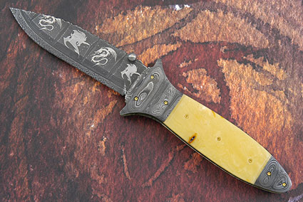 Mythical Creatures Damascus Folder