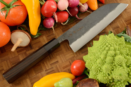 Denka no Hoto Chefs Knife - Santoku, Traditional with Finger Rest - 180mm (7 1/8 in.)