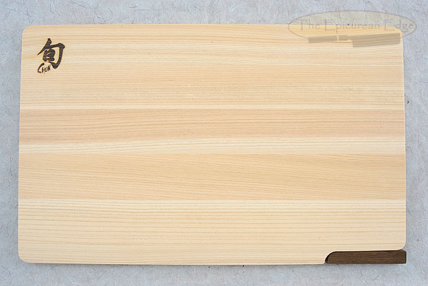 Hinoki Cutting Board with Walnut Stand