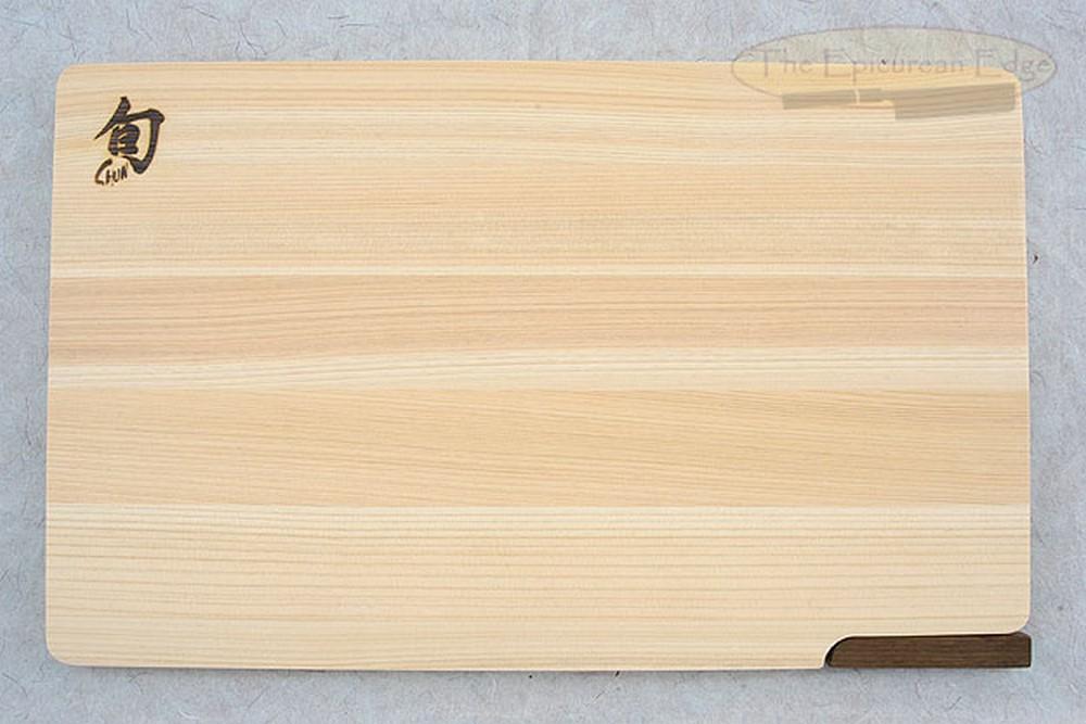 Hinoki Cutting Board with Walnut Stand