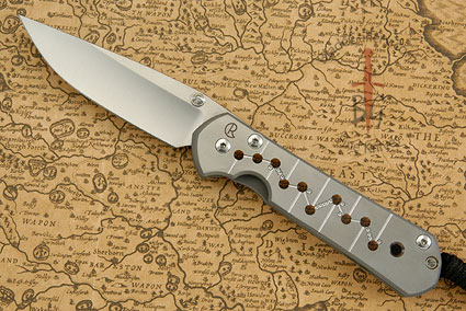 Large Sebenza 21 with Unique Graphic, Molecular Chain (Lisa's Pick)
