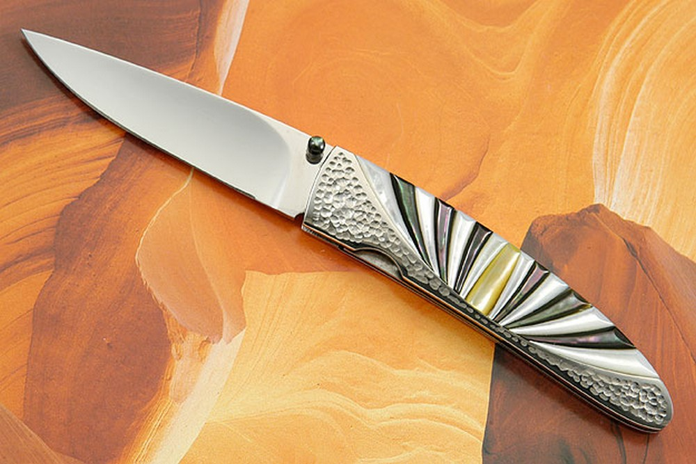 Mother of Pearl Sunburst Folder