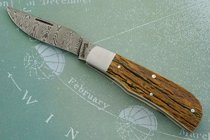 Mammoth Ivory Bark Slip Joint Folder