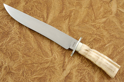 Walrus Ivory Bowie<br>Journeyman Smith Test Knife