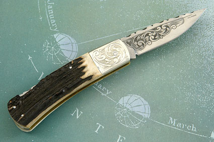 Engraved Stag Backlock
