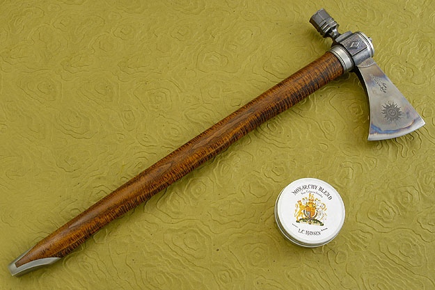 Forged Titanium Diamond Pipe Tomahawk