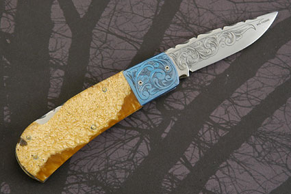Engraved Musk Ox Horn Folder