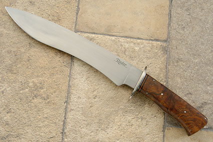 Bowie with Mesquite Burl<br>Journeyman Smith Test Knife