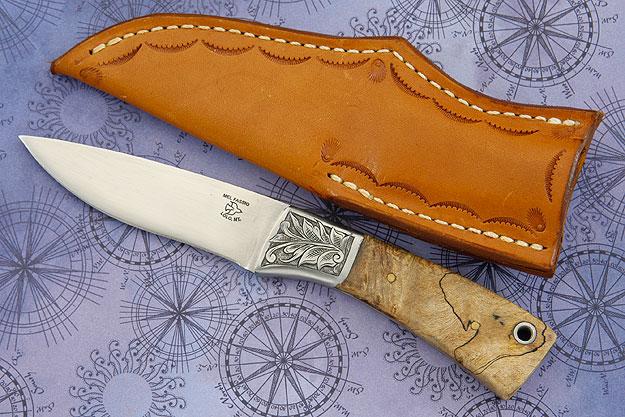 Engraved Spalted Maple Burl Hunter