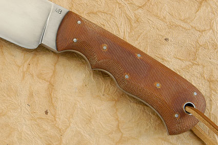 Camp Knife with Micarta