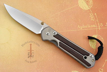 Large Sebenza 21 with Madagascar Rosewood