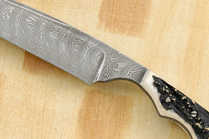 Damascus Batwing Fighter with Sambar Stag