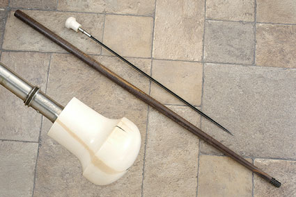 Maple and Mammoth Ivory Sword Cane