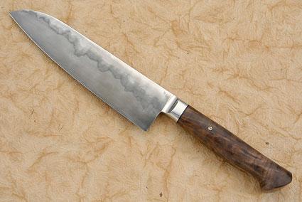 Chef's Knife (Santoku) with Walnut (7-1/8