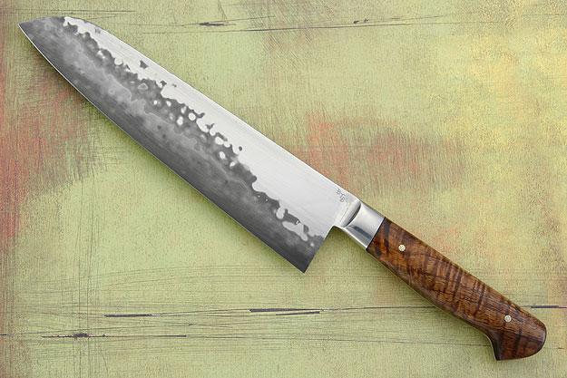Chef's Knife (Santoku) with Curly Koa (7 3/4