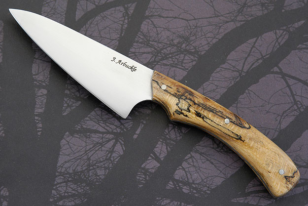 Chef's Utility Knife (4 in) with Spalted Sycamore