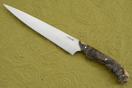 Carving Knife/Slicer (7-2/3 in) with Box Elder Burl
