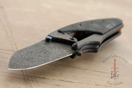 Beetle - Damascus with Lightning Strike Carbon Fiber