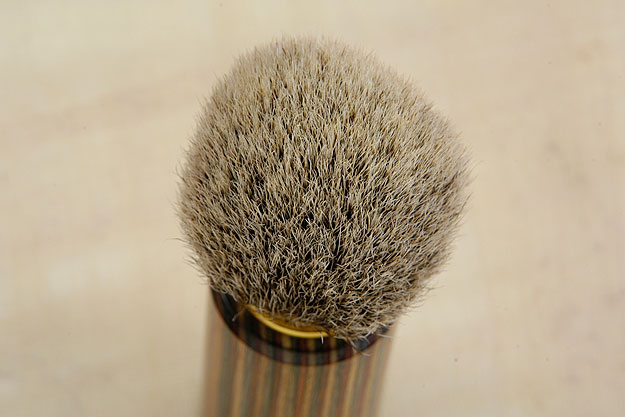 Pakkawood and Silvertip Badger Bristle Shaving Brush