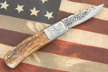 Engraved Giraffe Bone Folder
