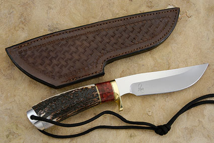 Classic Hunter with Stag and Red Maple