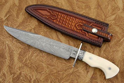 Engraved NLT Bowie with Walrus Ivory