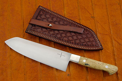 Chef's Knife (Santoku) with Giraffe Bone (7 in)
