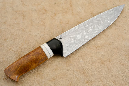 Damascus and Amboyna Chef's Knife (8 in.)
