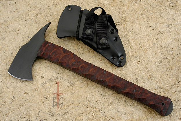 Combat Axe with Sculpted Maple Handle and Caswell Finish