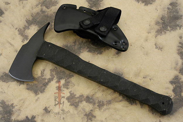 Combat Axe with Sculpted Rubber Handle and Caswell Finish