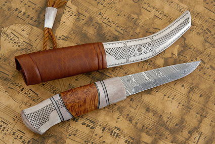 Sami Style Half Horn Hunter<br><i>1st Prize Half Horn Knives, Class A - Nordic Championship in Ludvika 2012
