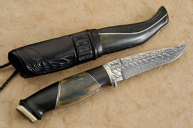 Sunken Oak & Ivory Half Horn Hunter