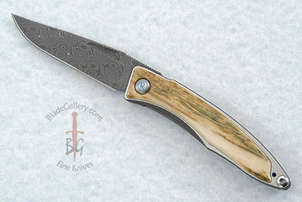 Mnandi with Mammoth Ivory Bark and Stainless Raindrop Pattern Damascus