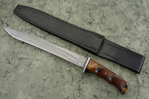Recurve Fighter with African Blackwood and Maple Burl
